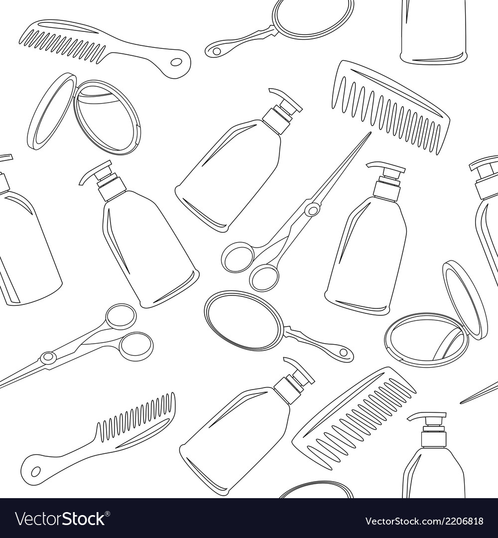Background with hairdressing accessories vector | Price: 1 Credit (USD $1)