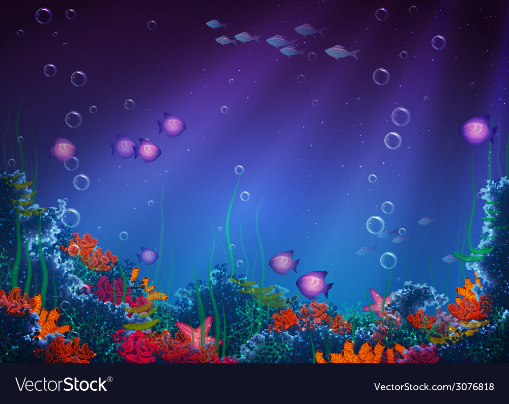 Background with underwater cave vector | Price: 3 Credit (USD $3)