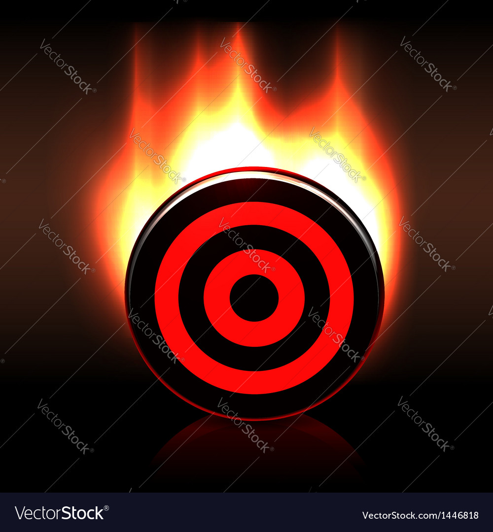Blazing glossy target goal plate vector | Price: 1 Credit (USD $1)
