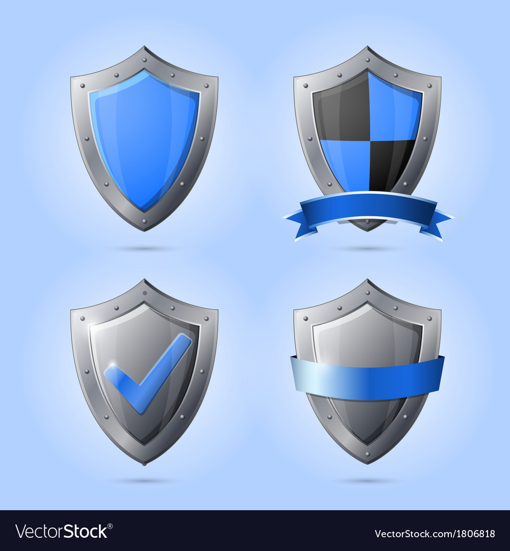Collection of shield emblems vector | Price: 1 Credit (USD $1)