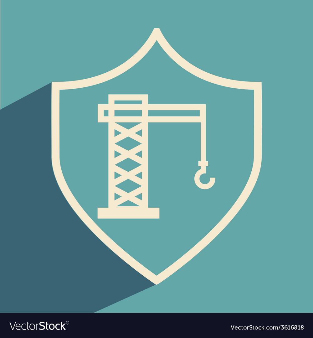 Crane icon vector   Price: 1 Credit (USD $1)