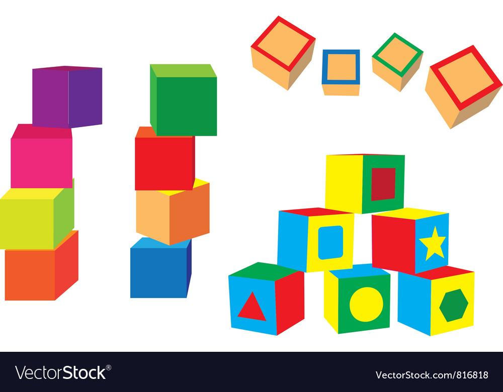 Different blocks vector | Price: 1 Credit (USD $1)