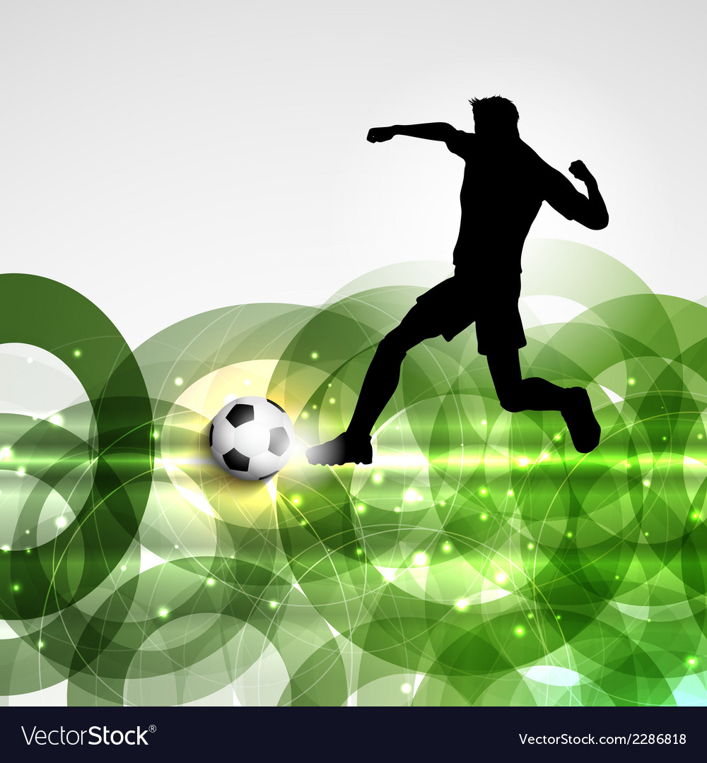 Football or soccer player background vector | Price: 1 Credit (USD $1)