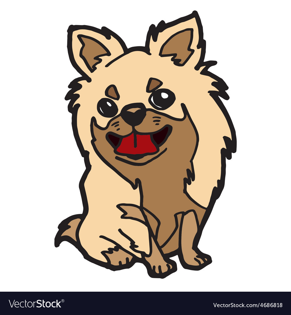 Puppy cartoon isolated on white vector   Price: 1 Credit (USD $1)