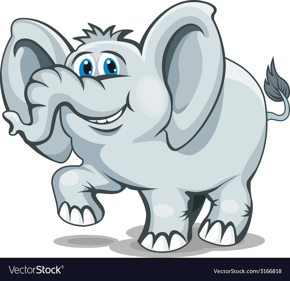Smiling elephant vector | Price: 1 Credit (USD $1)