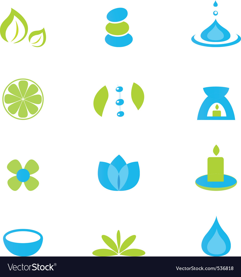 Wellness and spa icons vector | Price: 1 Credit (USD $1)
