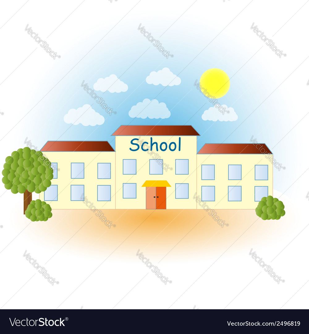A modern school vector | Price: 1 Credit (USD $1)