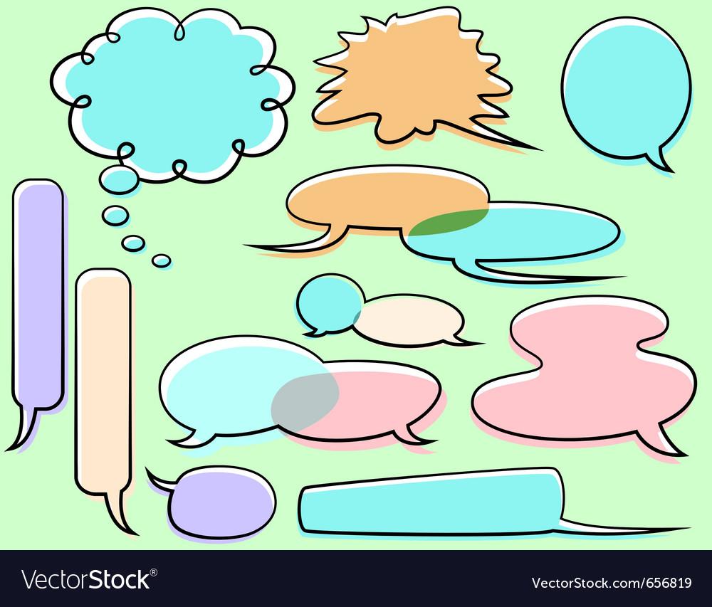 Cartoon word balloons vector | Price: 1 Credit (USD $1)