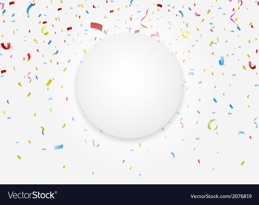 Celebration with colorful confetti vector | Price: 1 Credit (USD $1)