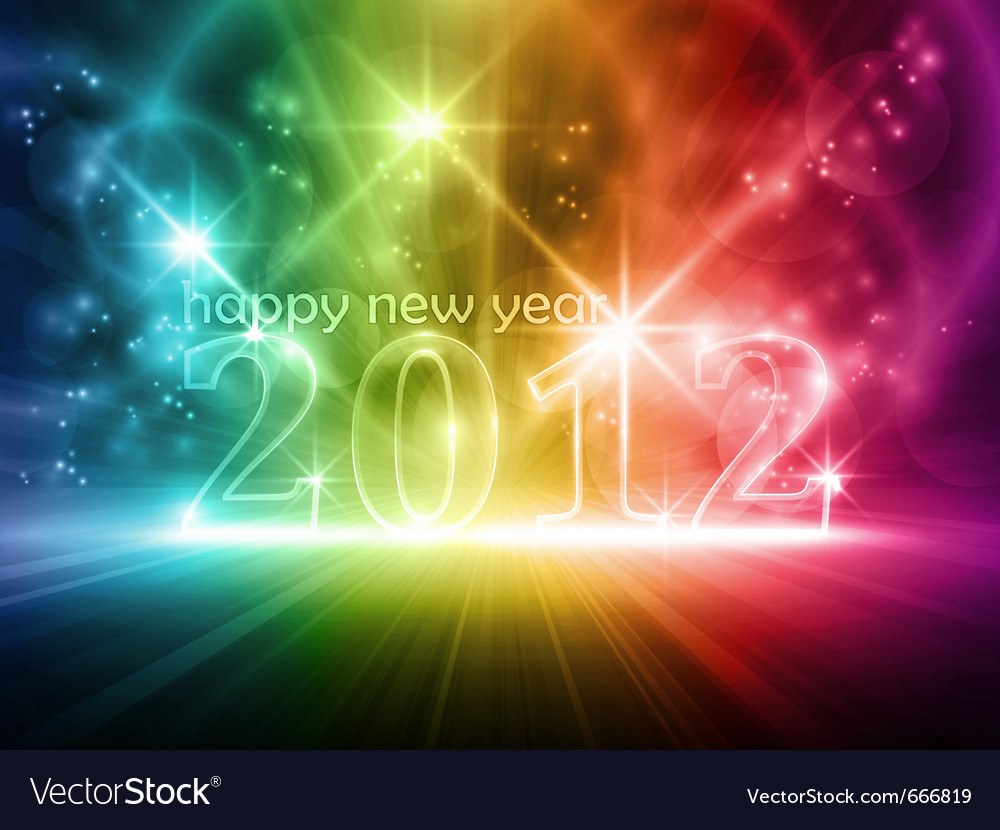 Colorful transparent year 2012 vector | Price: 1 Credit (USD $1)