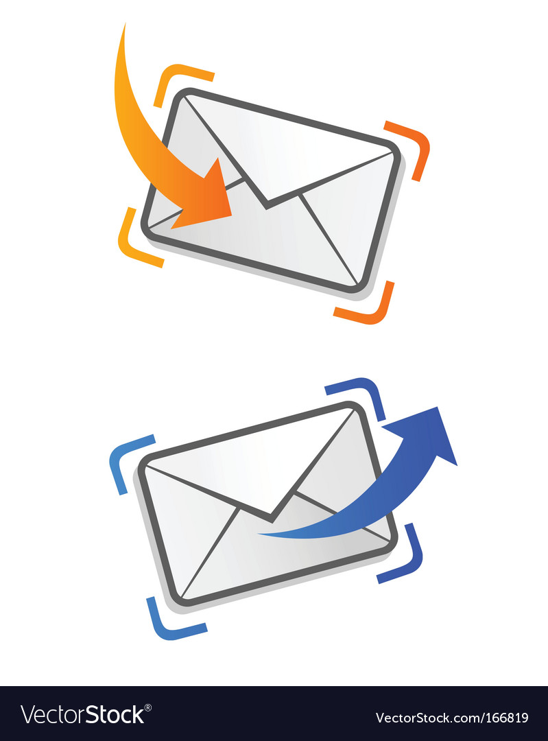 Email correspondence vector | Price: 1 Credit (USD $1)