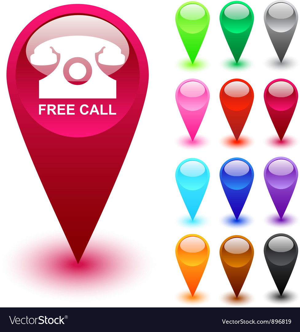 Free call button vector | Price: 1 Credit (USD $1)
