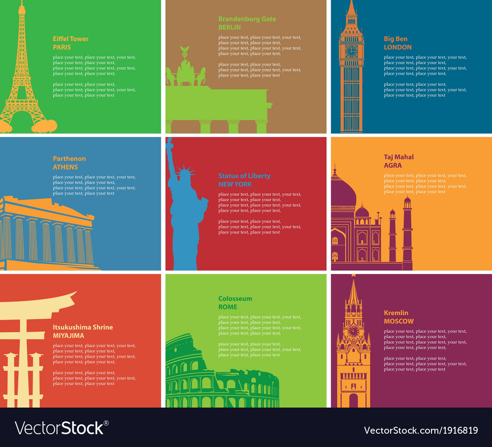 Historic sites vector | Price: 1 Credit (USD $1)