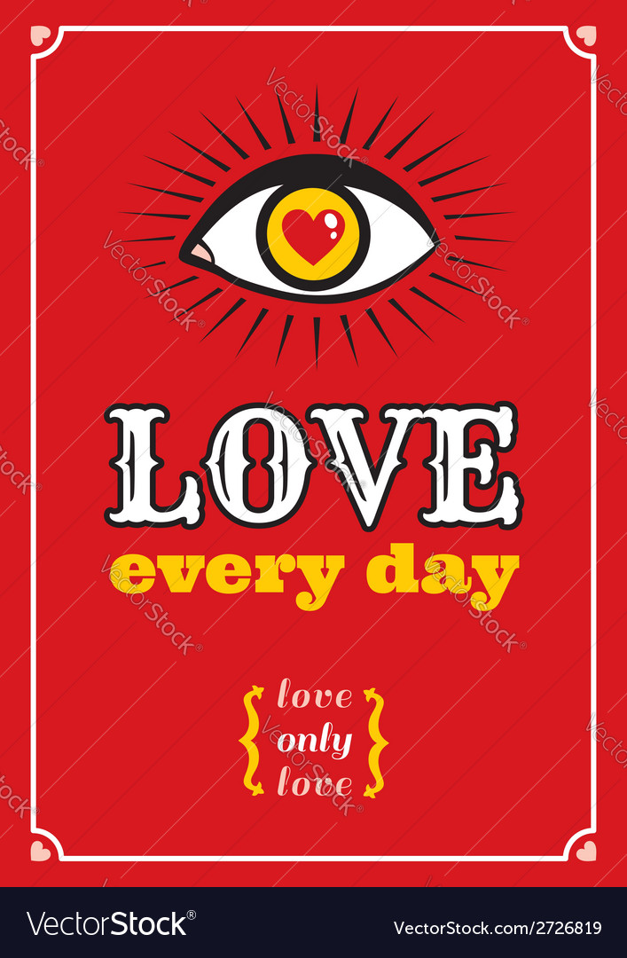 Love every day vector | Price: 1 Credit (USD $1)