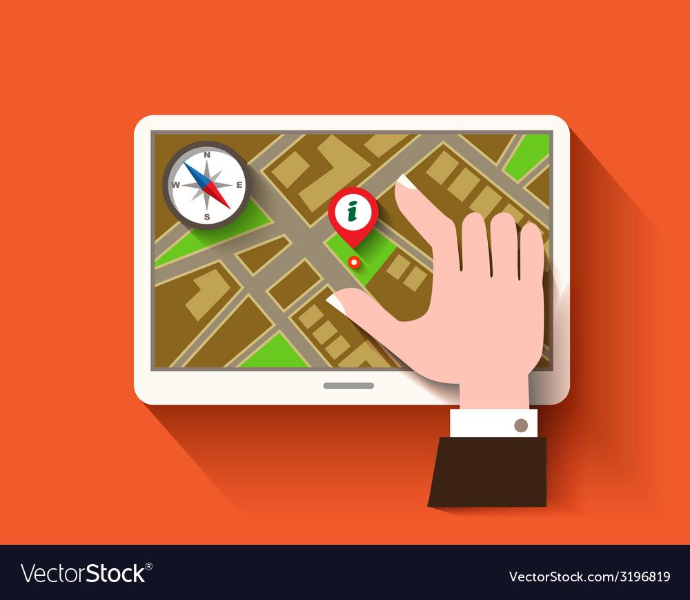 Mobile gps navigation vector | Price: 1 Credit (USD $1)