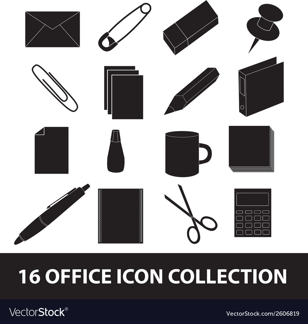 Office icon collection eps10 vector | Price: 1 Credit (USD $1)