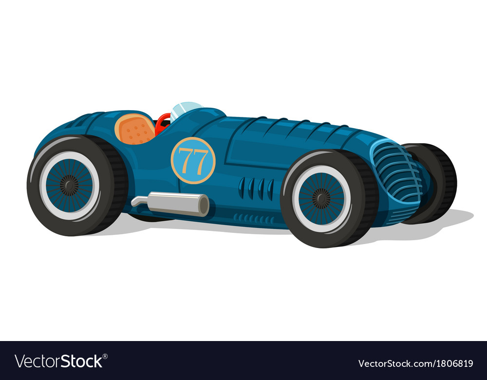 Retro racing car icon vector | Price: 1 Credit (USD $1)