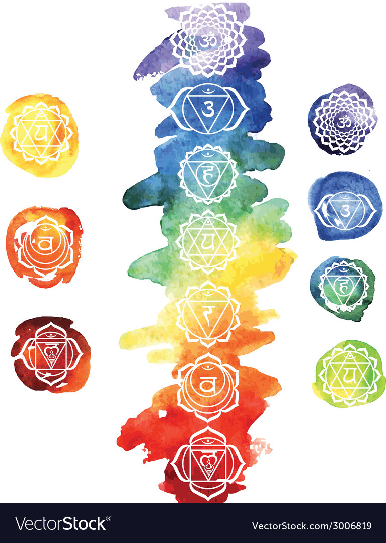 Seven chakras vector | Price: 1 Credit (USD $1)