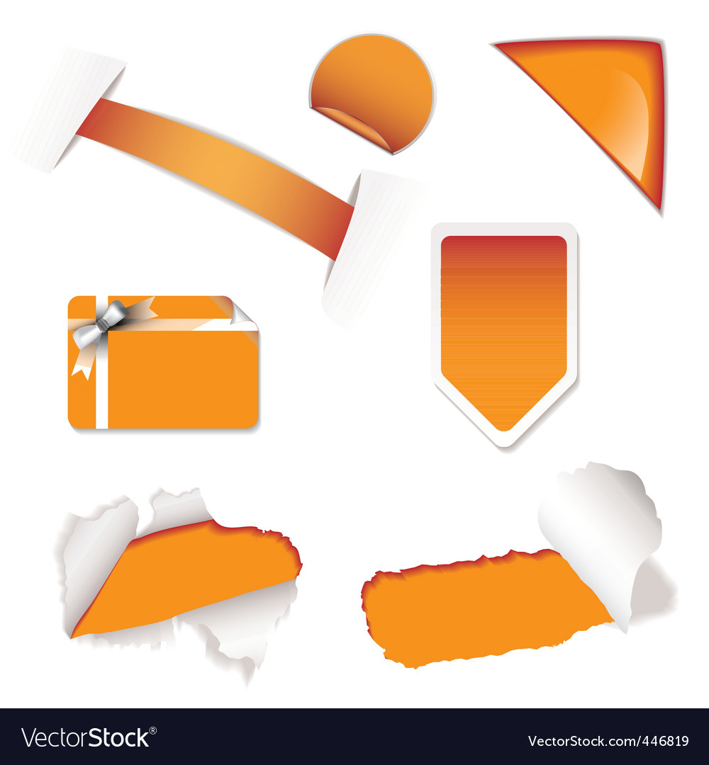 Shop sale elements orange vector | Price: 1 Credit (USD $1)