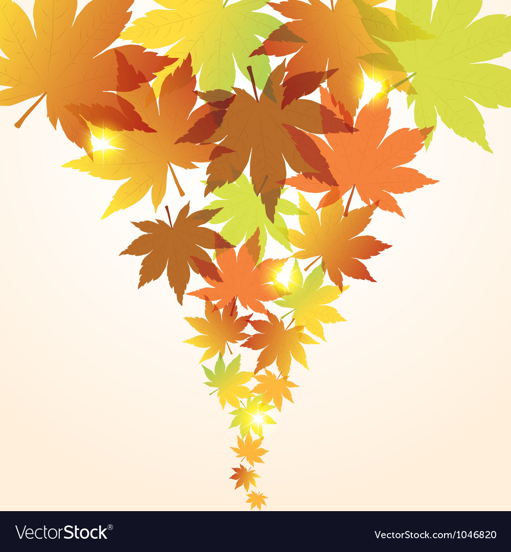 Abstract fall background vector | Price: 1 Credit (USD $1)