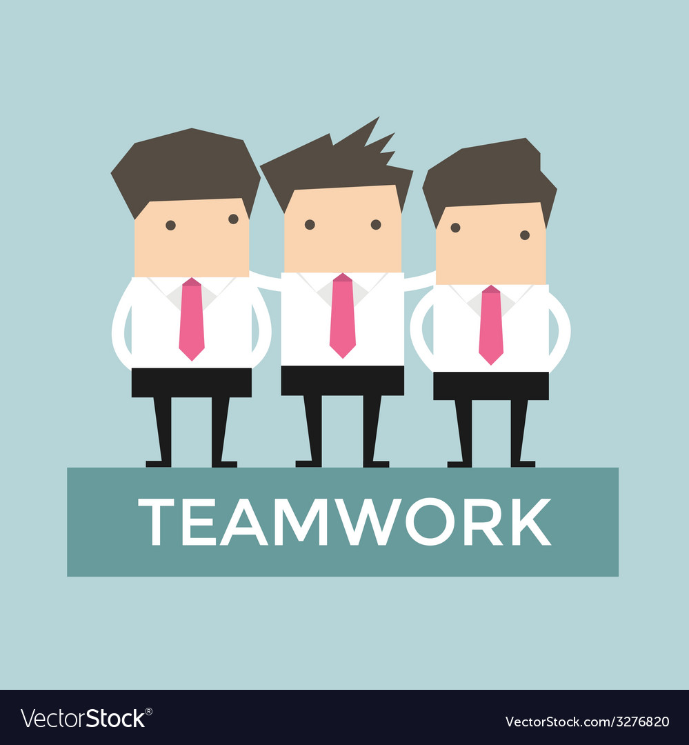 Businessman teamwork vector | Price: 1 Credit (USD $1)
