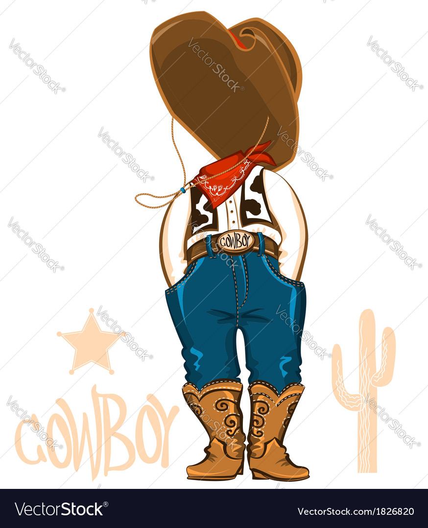 Cowboy clothes isolated on white vector | Price: 1 Credit (USD $1)