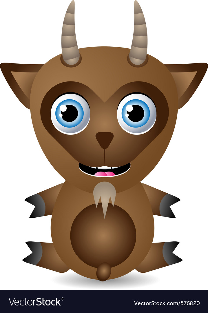 Cute goat character vector | Price: 1 Credit (USD $1)