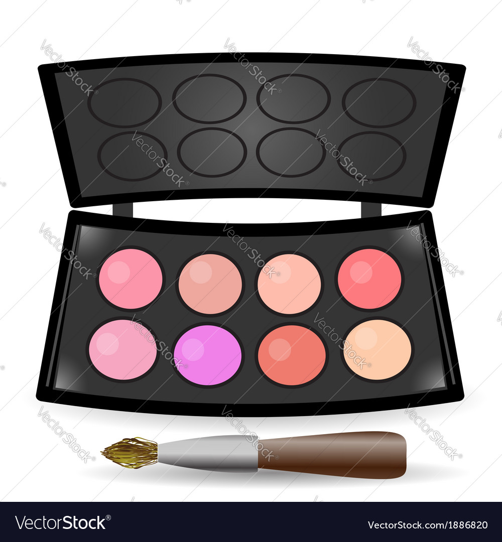 Eyeshadow palette vector | Price: 1 Credit (USD $1)