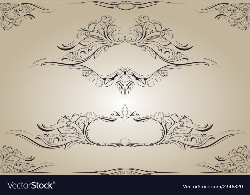Frame with plant and animal elements vector | Price: 1 Credit (USD $1)