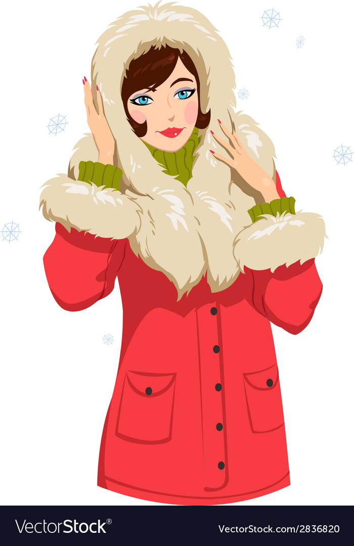 Girl in winter clothes vector | Price: 1 Credit (USD $1)