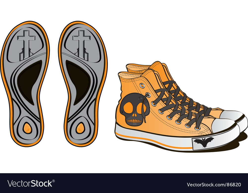 Halloween footwear skull vector | Price: 1 Credit (USD $1)