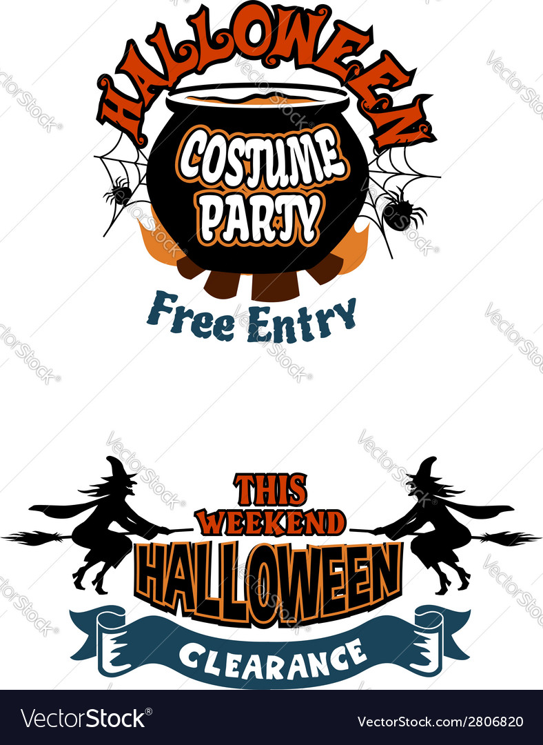 Halloween holiday invitations vector | Price: 1 Credit (USD $1)