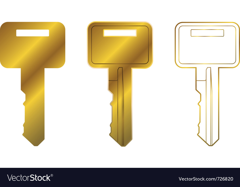 House key three vector | Price: 1 Credit (USD $1)