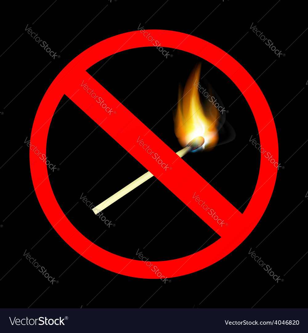 No fire sign vector | Price: 1 Credit (USD $1)