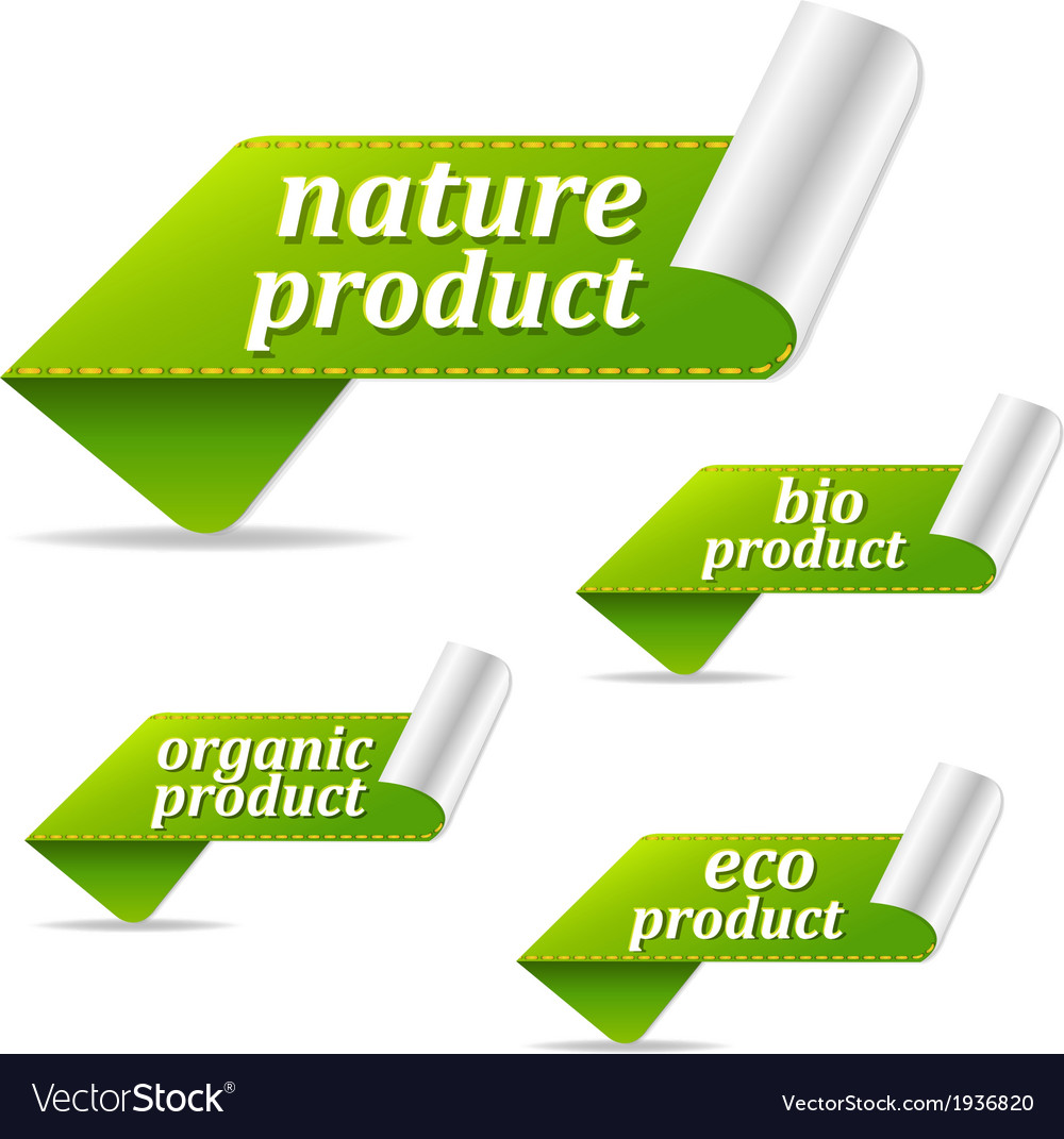 Organic sales tags vector | Price: 1 Credit (USD $1)