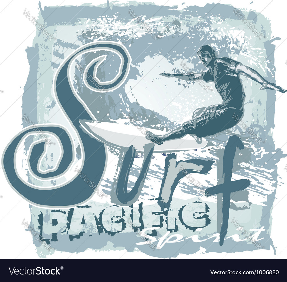 Surf pacific spirit vector | Price: 1 Credit (USD $1)