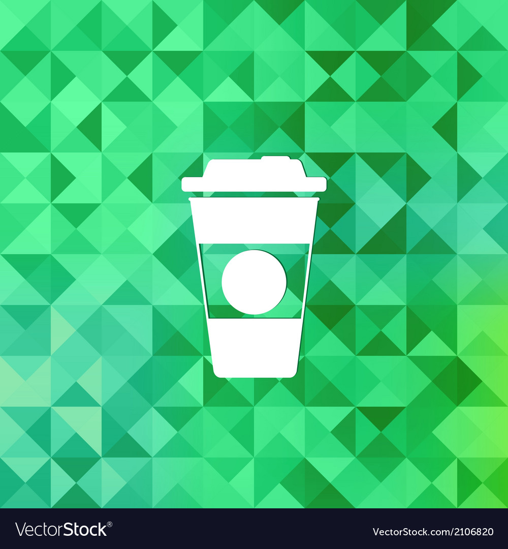 Takeaway coffee cup icontriangle background vector | Price: 1 Credit (USD $1)