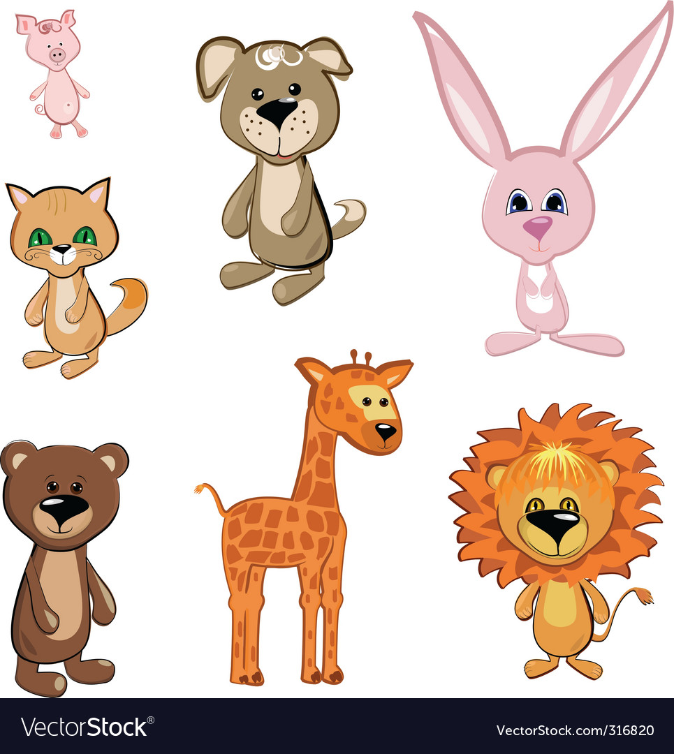 Toy animals vector | Price: 3 Credit (USD $3)