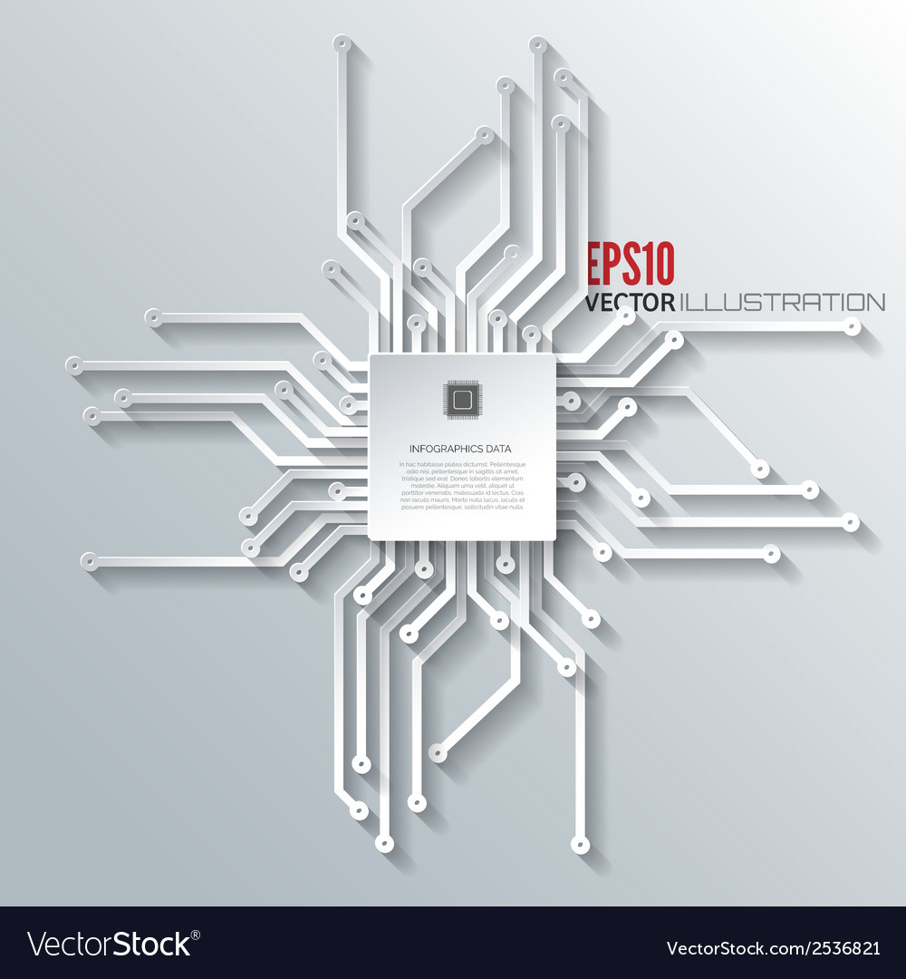 Abstract integrated circuit business background vector   Price: 1 Credit (USD $1)
