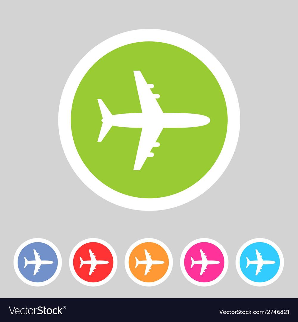 Airplane plane flat icon vector   Price: 1 Credit (USD $1)