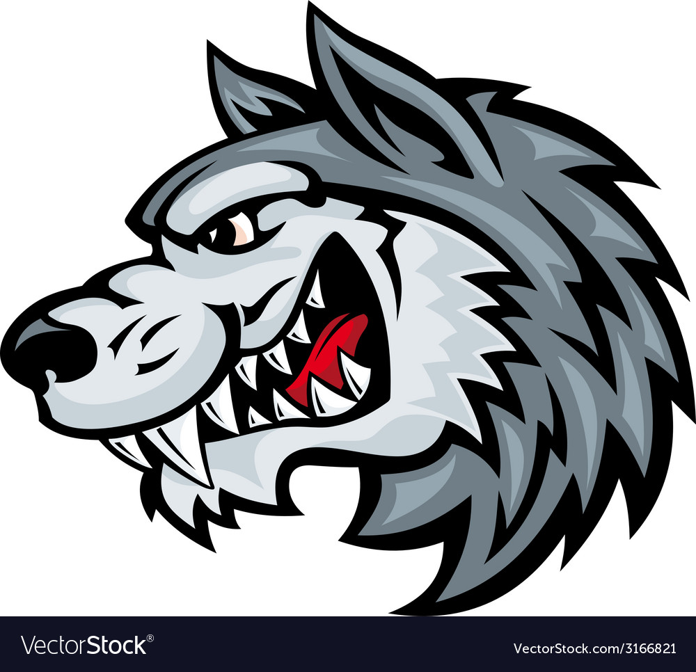 Angry wolf vector | Price: 1 Credit (USD $1)