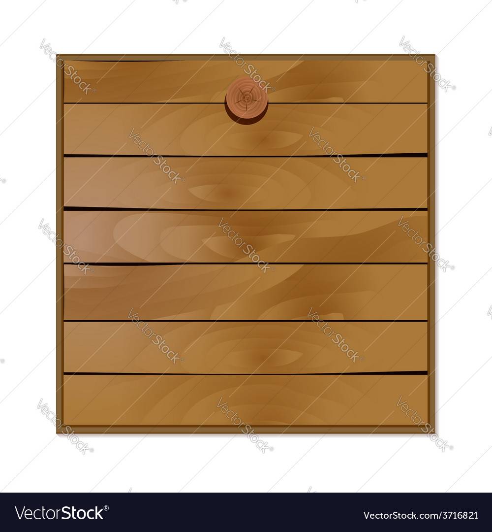 Blank wooden board vector | Price: 1 Credit (USD $1)