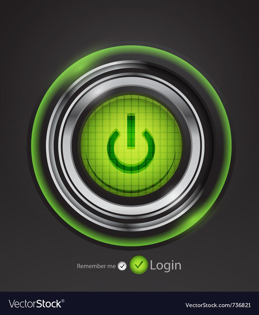 Futuristic power button vector | Price: 1 Credit (USD $1)