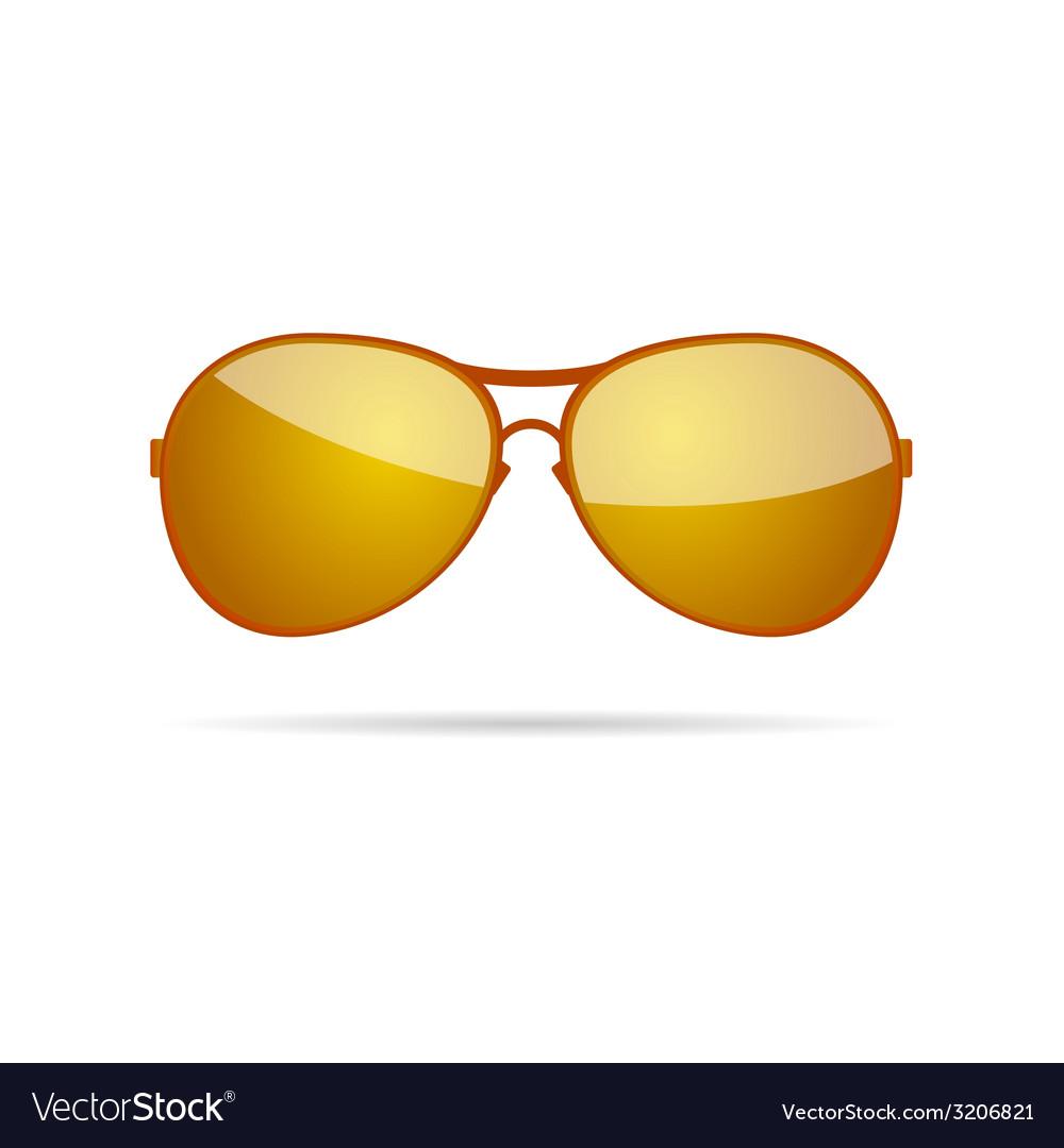 Gold sunglasses classic color vector | Price: 1 Credit (USD $1)