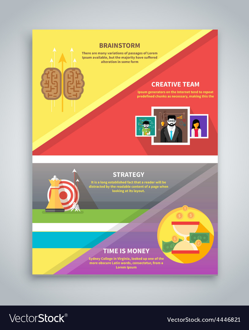 Infographic business brochure banner vector | Price: 1 Credit (USD $1)