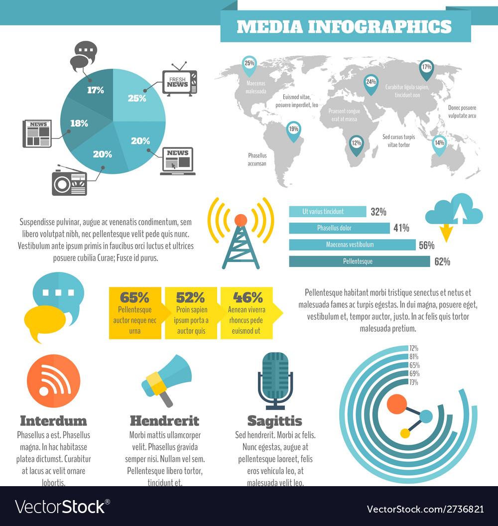 Media infographics vector | Price: 1 Credit (USD $1)