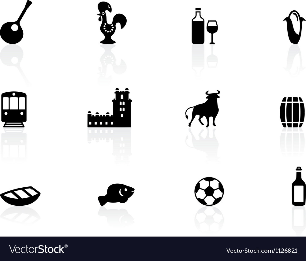 Portuguese icons vector | Price: 1 Credit (USD $1)