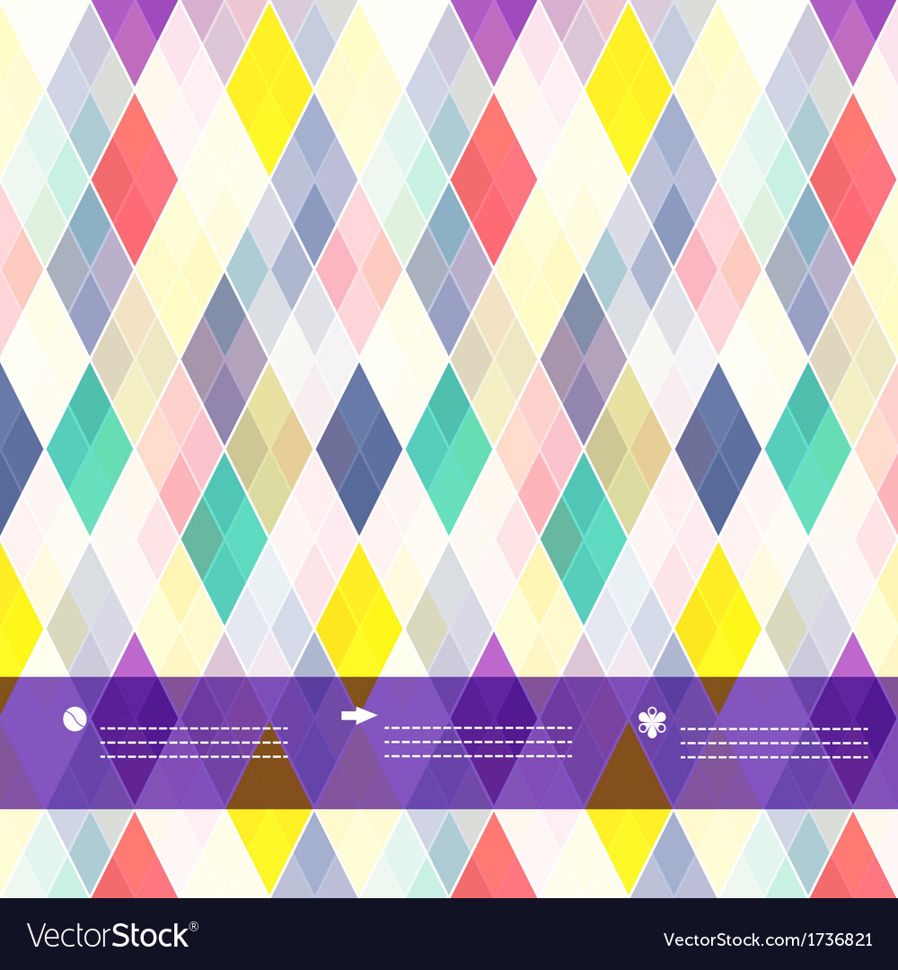 Seamless background of plaid pattern with place vector | Price: 1 Credit (USD $1)