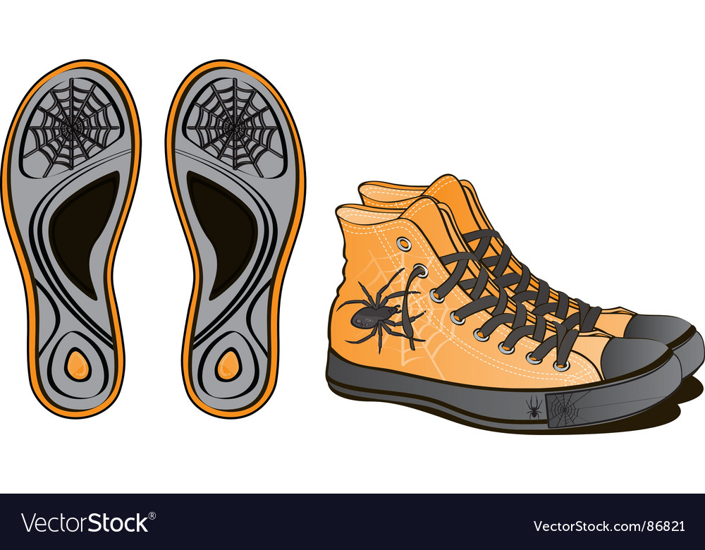 Sports shoes halloween symbol vector | Price: 1 Credit (USD $1)