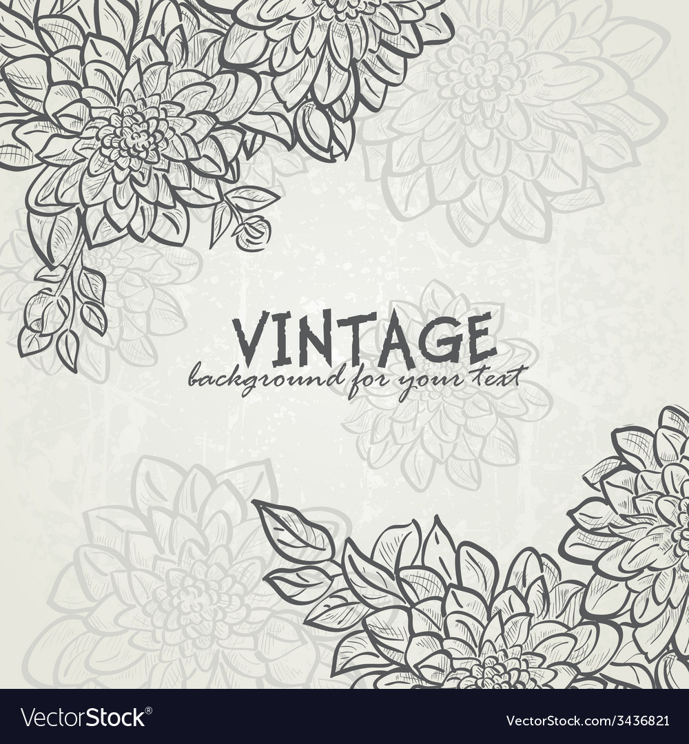 Vintage background with flowers dahlias for your vector | Price: 1 Credit (USD $1)